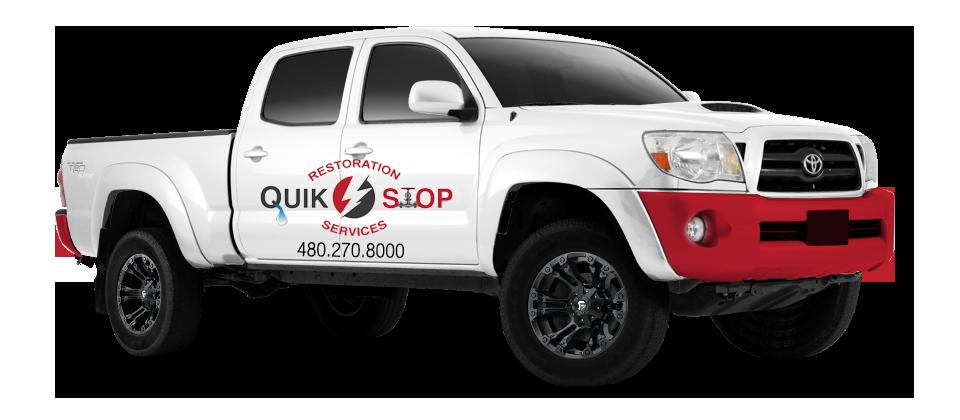 Quik Stop Restoration Pickup Truck with Logo